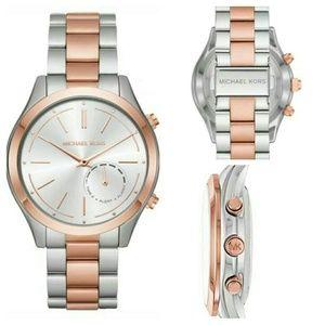 Michael Kors Hybrid Slim Runway Rose Gold Watch